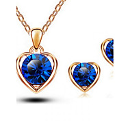 Z&X® Alloy Crystal Love Jewelry Set Party/Daily 1set(Including Necklaces/Earrings)