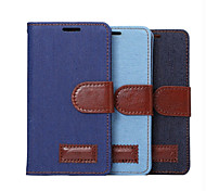 High-end Denim PU Leather  Card Holder Wallet Flip Phone Holster Huawei G6(Assorted Color)