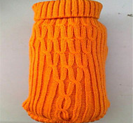 Holdhoney Red/Brown/Yellow/Orange Tower Type More Small Sweater For Pets Dogs (Assorted Sizes, Colors) #LT15050146