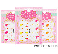 Pack of 6 Sheets 3D Nail Decals Nail sticker Animals The Cute Lama Pacos QJ-3D-618-620