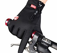 Cycling Bike Bicycle Anti-Slip Breathable Winter Fleece Warm Magic Touchscreen Skidproof Full-Finger Gloves