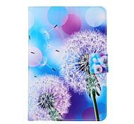 Coco design de moda fun® arroxeada padrão de dente de leão azul pu tampa de couro Stand Case para Apple iPad mini-1/2/3