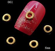 10pcs Gold Round Oval Design Nail Art Decoration Alloy Rhinestone Decoration for Nails Glitter Nail Tools
