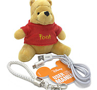 Disney Winnie Plush Cotton Doll Power Bank External Battery For Iphone ,Samsung And Any USB Device