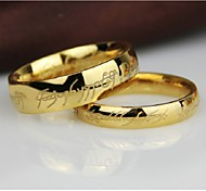 European Style Round Titanium Steel Foreign Trade Rings For Men's(Silver,Gold)(1Pc)