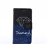 elegant Diamant-Muster PU-Leder Ganzkörper-Fall mit Standplatz für lg l70
