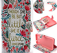 Flower and Grass Pattern with Card Bag Full Body Case for Samsung Galaxy Grand Prime G5308