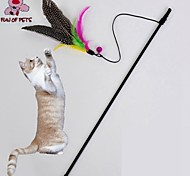 Cat Toy Pet Toys Teaser Feather Toy Bird Brown Textile
