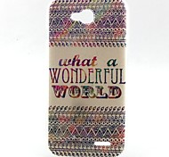 Stripe Pattern TPU Material Soft Phone Case for LG L90 D405