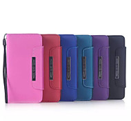 5.1 Inch Hand Strap Pattern PU Leather Wallet Case for Samsung GALAXY S6(Assorted Colors)
