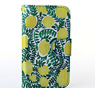 Lemon Pattern PU Leather Full Body Case with Stand for Alcatel One Touch POP C3