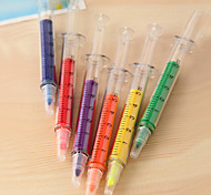 Syringe Shaped 6-Color Fluorescent Pen Set(6 PCS)
