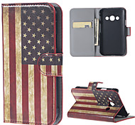 Vintage US Flag Leather Full Body Case with Stand for Samsung Galaxy Xcover 3 SM-G388F