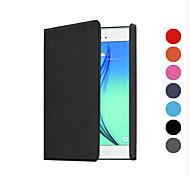 neue offizielle 1: 1 Ständer Falten leichter Schlag PU-Lederabdeckungsfall für Samsung Galaxy Tab 8.0 a t350 / Tab A9.7 T550