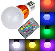 Golden Shell E27 5 W RGB 16 Colors 1x High Power LED - with Remote Controller  LED Ball Bulb (AC 85-265V)