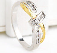 Size 6/7/8/9/10 High Quality Women White Sapphire Rings 10KT Yellow Gold Filled Ring