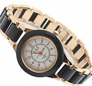 Women's  Round Dial Alloy Band Quartz Analog Wrist Watch Cool Watches Unique Watches