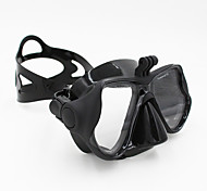 GOPRO Adult Diving Masks One-Window PVC Frame/Silicone Stripe Tempered Glass-Black