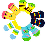 Red/Black/Green/Blue/Yellow Cotton Socks & Boots For Dogs