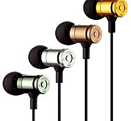 JBM MJ-007 3.5mm Jack In Ear Stereo Earphones Headphones with Mic for iPhone and Smartphones