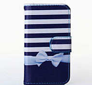 Bowknot Pattern PU Leather Full Body Case with Stand for Multiple Samsung Galaxy S5Mini/S4Mini/S3Mini