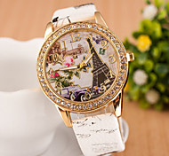 Women's Watches Watch Fashion Belt Diamond Watch Digital Quartz Watch Eiffel Tower Personality 3D