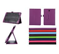 pu lederen case standaard tablet beschermhoes voor de Samsung Galaxy Tab 8.0 4 / tab 3 8.0 / tab een 8,0 / tab Pro 8.4 (verschillende