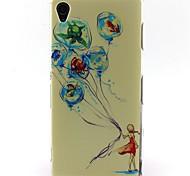 modello ragazza materiale TPU soft phone per Sony Xperia z3