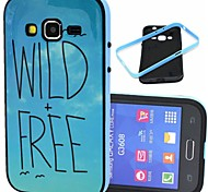 2-in-1 Wild Free Pattern TPU Back Cover with PC Bumper Shockproof Soft Case for Samsung Core Prime G360/Core 2 G355H