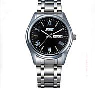 disque mode des affaires civiles de quartz Les montres en acier étanche en acier inoxydable des hommes (couleurs assorties)