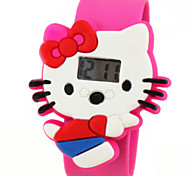 Children's Cute Cartoon Silicone Ultraman Hello Kitty Pattern   Lovely Digital Calendar Water Resistant  Slap Watch