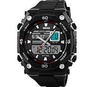 Men's Dual Time Analog-Digital Sports Watch Fashion Sporty Wristwatch