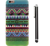 configuration des vents nationale TPU arrière souple et un stylo stylet tactile pour iphone 6