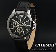 CHENXI® Hommes Montre Bracelet Quartz Quartz Japonais Cuir Bande Noir