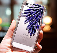 Feder Diamantglasmuster unterstützen stark rückseitiger Fall für iphone5