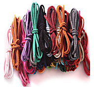 Beadia 10 Pcs DIY Accessories 3mm (100cm Length) Flat Faux Suede Leather Cord Lace String 17 Colors U-Pick