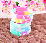 HUALUO®GOOD LUCK Lucky Clover Silicone Bracelets(Random Color)