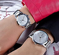 Couple's Disc Minimalist Fashion Casual Fashion Waterproof Stainless Steel Quartz Couple Watches (Assorted Colors)