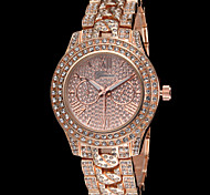 correa de acero de cristal chispa reloj de cuarzo ginebra moda femenina