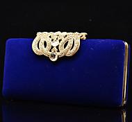 Handbag Crystal/ Rhinestone/Faux Leather/Metal/Luxurious Satin Evening Handbags/Mini-Bags With