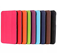 Solid Colors PU Leather Custer Flip Full Body Stand Case for Galaxy Tab E 9.6 (Assorted Colors)