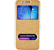 df Seide Muster Doppelfenster Ganzkörper-Fall für Samsung s6 (Farbe sortiert)