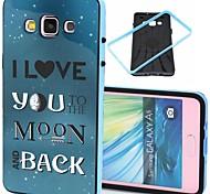 2-em-1 eu te amo à lua padrão TPU tampa traseira com amortecedor pc soft case à prova de choque para Samsung Galaxy a5 / a500f