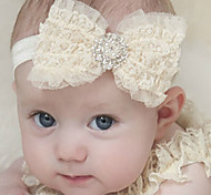 Ivory Baby Headband,Baby Girl Headband,Newborn lace, Christening Headband,Baptism Headband, Baby Hair Bows