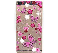 PTU Feel Thin Protective Sleeve Butterfly for Huawei P7/P8