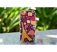 Colorful City View Painting Back Cover Skin Super Thin TPU Case for iphone 6 Plus