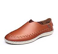 Zapatos de Hombre Mocasines Exterior / Casual Cuero Azul / Marrón / Negro