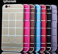 de forma magro grade de design caso tampa de metal de alumínio da listra da escova de metal para iphone 6
