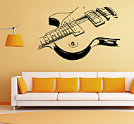 Wall Stickers Wall Decals Style Personality Guitar PVC Wall Stickers