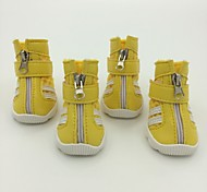 Red/Blue/Yellow PU Leather New Style Fashion Pet Shoes